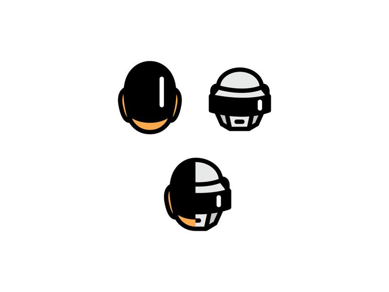 Daft Punk graphic dailyui vector work art daftpunk illustration daily minimal artwork design