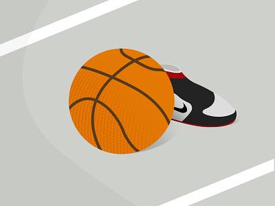 Ball day vector graphic daily art illustration work basketball nike artwork minimal design