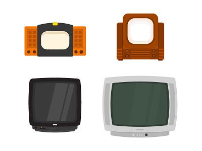 TV HISTORY history television minimal design art work artwork daily illustration