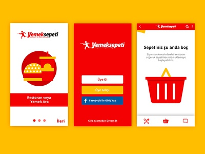 Yemek Sepeti App daily artwork minimal work art ux ui dailyui app yemeksepeti design