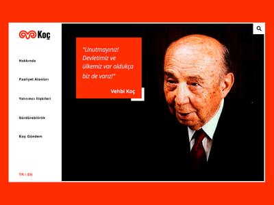 Koç Holding - Redesign Landing Page