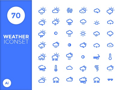 Weather Icon Set weather sun snow set flat pictograph pack moon kit icons icon cloud