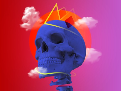 Skull illustration graphic work art artwork king daily photoshop design skull