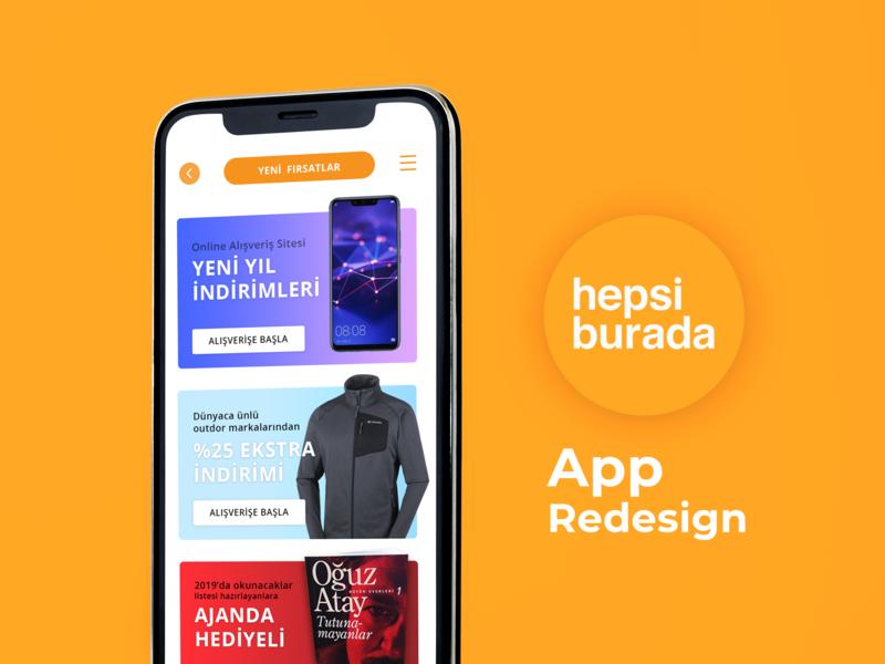 Hepsiburada App Redesign orange turkey digital adobe daily branding mobileapp art graphic dailyui ux ui minimal artwork work design redesign istanbul app hepsiburada