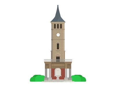 İzmit Saat Kulesi work vector ui adobe illustrator turkey türkiye minimal illustration daily design izmit saat kulesi city build artwork