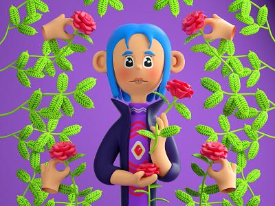 #drawthisinyourstyle flowers drawthisinyourstyle color character c4d illustration 3d
