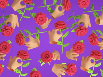 Wallpapers chulos web pattern color character 3d flower illustration rose flowers hand flower wallpaper