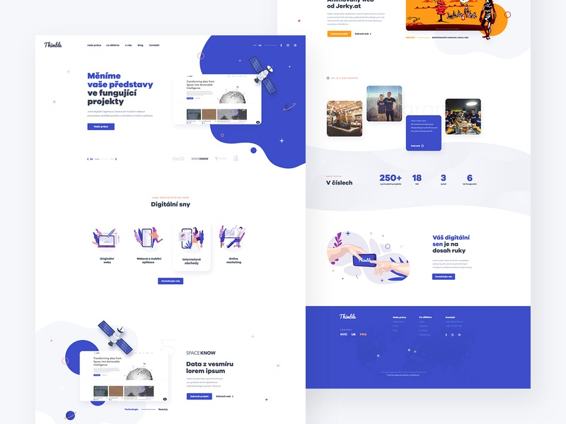 Agency concept interface company corporate clean illustration aagency page landing design web