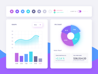 Financial app UI moodboard