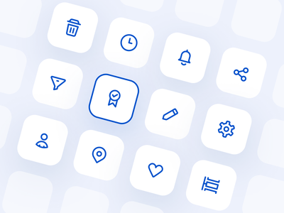 Iconography (Line Icons) For a Mobile App set flat line illustration outline iconography iconset icons icon 2d interface ui mobile mobile app design app