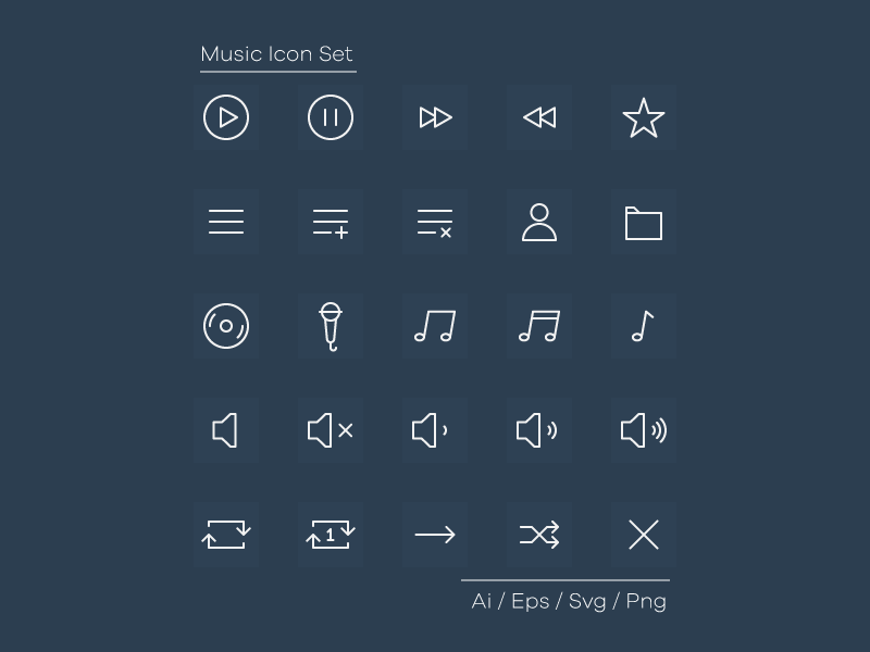 Music Icon Set Freebie