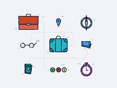 Travel Themed Icons/Illustration