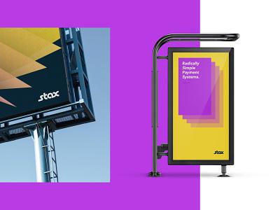 Stax Rebrand - Advertising Concepts Pt.2 vector finance fintech brand identity brand design graphic design design branding bus stop ad billboard design advertising