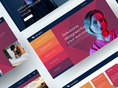 Kavaliro Website - Homepage website brand design design