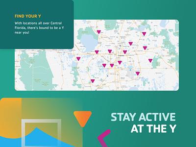 YMCA Website - Location Page design brand design website graphic design
