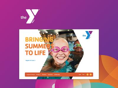 YMCA Website Redesign - Case Study brand design illustration website brand identity design graphic design branding