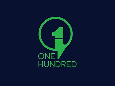 One Hundred flat minimal design logo branding