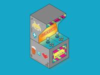 Arcade Machine Illustration For Barcade