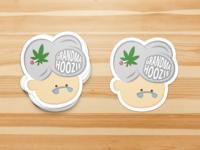 Grandma Hoozie Stickers