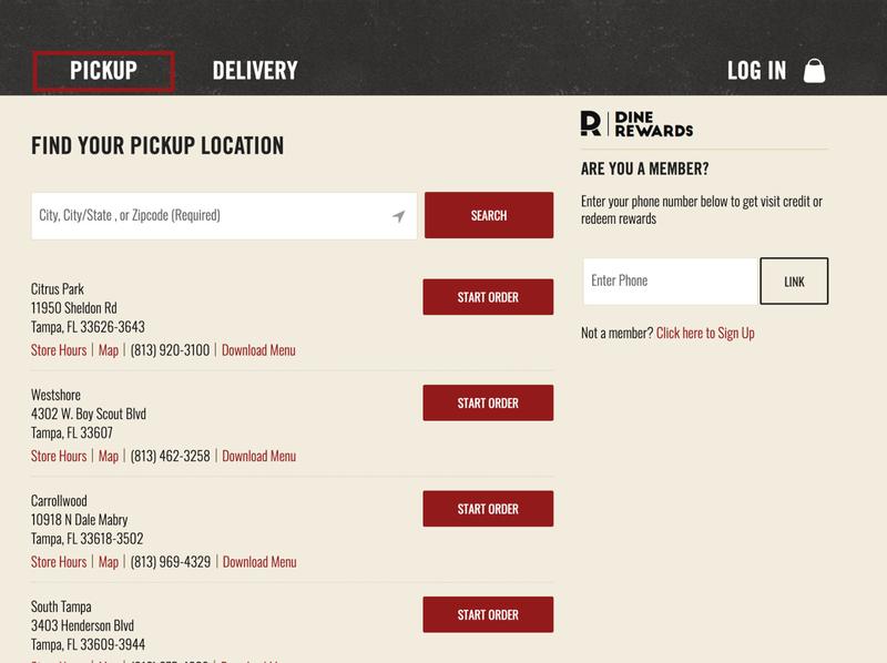 Outback Steakhouse Dine Rewards & Online Delivery Workflows