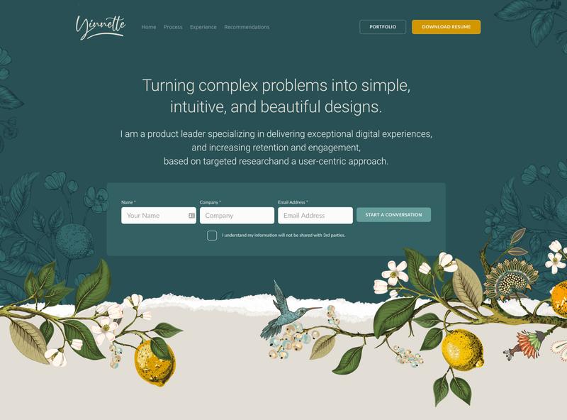 My Personal Website - Re-design