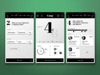 Black & White App Interface
