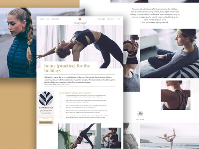 Lululemon Editorial Lookbook for hire vancouver interface ui ux website web blog editorial yoga athletic lifestyle