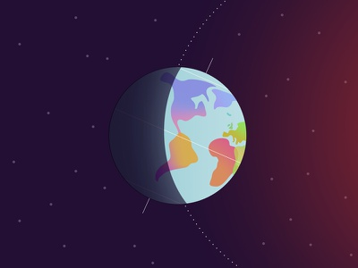 Happy Summer Solstice! earth planet space globe world icon illustration