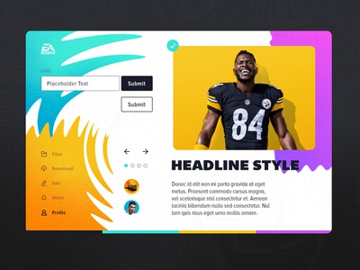 Sports UI Style Tile vibrant concept sports 90s colourful kit interface ui vancouver for hire
