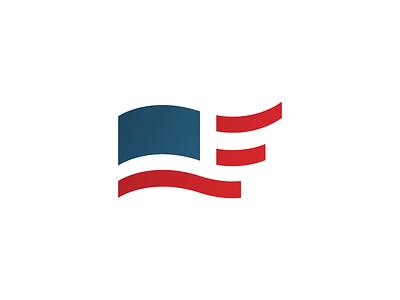 Frontier English Center america f flag usa symbol mark logo