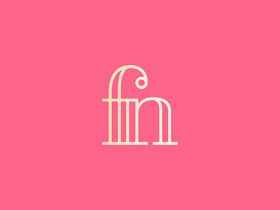 fn golden stroke photographer cherry monogram logo