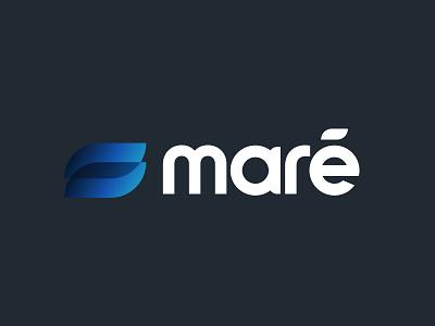 maré blue lowecase logotype logo wave maré