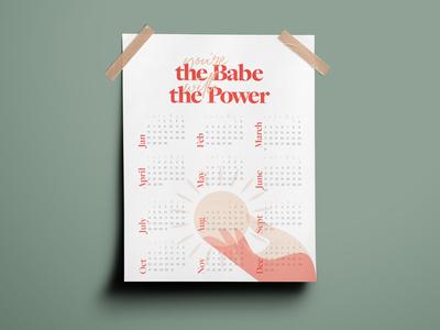 Babe With The Power 2019 Calendar