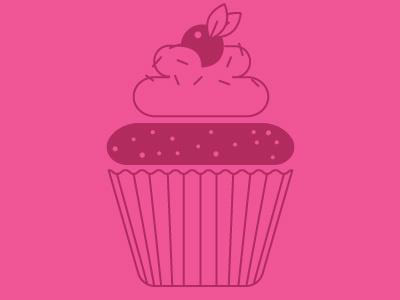 Cupcake vector illustration cupcake sprinkles frosting berry