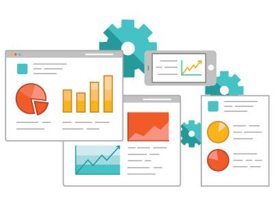 Analytics pie chart web