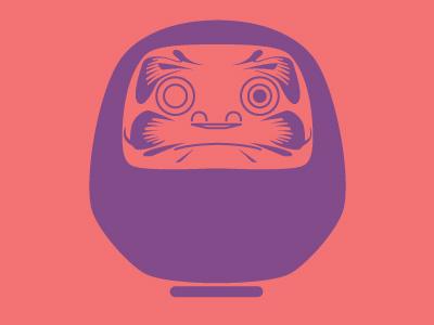 Daruma vector illustration icon daruma japan