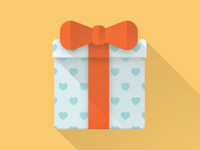 Gifts and Rewards bow ribbon box hearts vector present gift