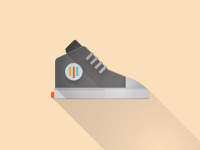 AnyKicks vector illustration flat shoe sneaker anyperk shadow