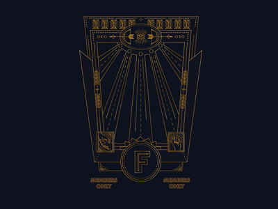 Underground Ladygang Web Portal gold dark speakeasy ui design vector illustration