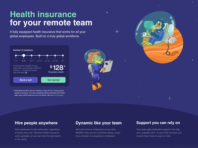 Remote Health ・ User Interface user experience user interface minimal homepage insurance digital clean button widget slider price 2d remote health safetywing product product design ui interface ux design