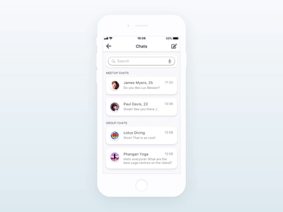 Hey! ・ High-Fidelity Prototype flinto create group chat group chat creation interface high-fidelity high-fidelity prototype product design prototype product design prototype prototype animation animation app application hey! ui ux location-based meetup chat group chat