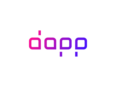 Dapp.com ・ Logo tron blue purple pink ecosystem neo steem eos ethereum decentralized code logotype dapp.com dapps dapp ui typography branding logo vector