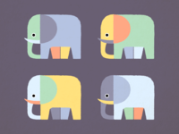 Weekly Illustration ・ Elephants