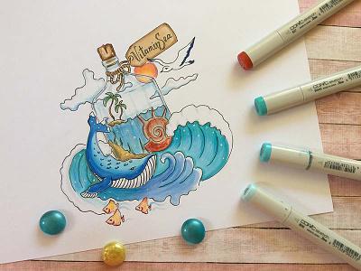 VitaminSea Sketch sketch markers marker illustration sea copic art