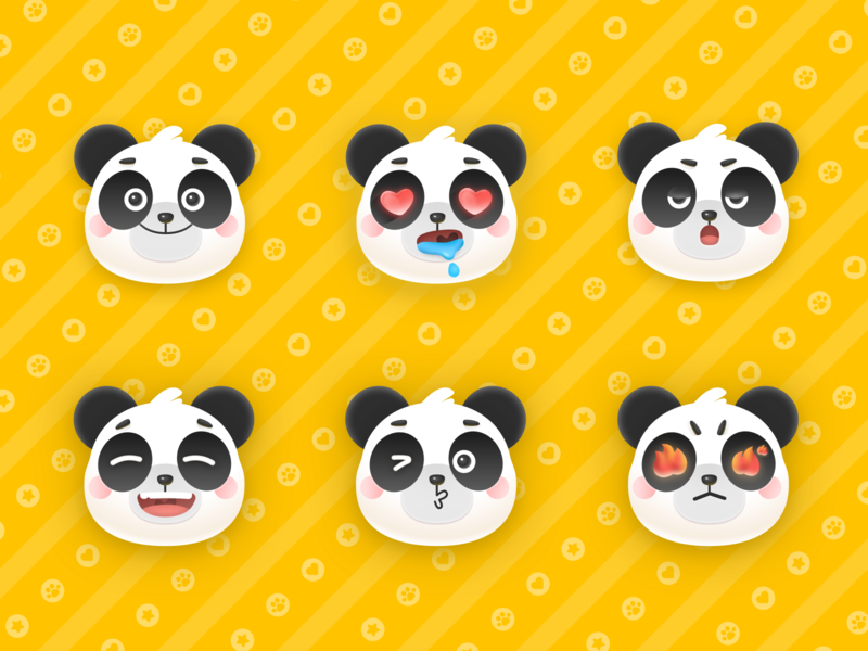 Panda expression bag 图标 web app icon logo ui design ai ps