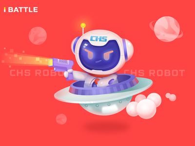 chs roboto-battle illustration design