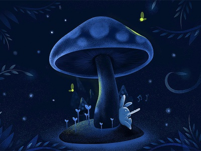Mushrooms and rabbits