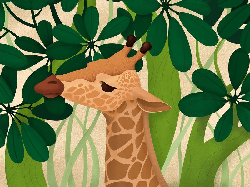 Giraffe giraffe illustration design ps ai
