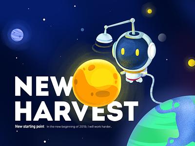 New Harvest 活版印刷 品牌 插图 设计 ps