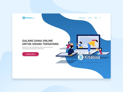 Kitabisa.com Landing Page Illustration